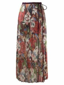 M Missoni floral-print pleated midi skirt - Red