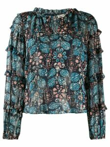 Ulla Johnson Roma floral-print blouse - Blue