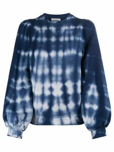 Ulla Johnson tie-dye balloon-sleeved sweatshirt - Blue