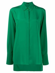 Joseph silk long-sleeve blouse - Green