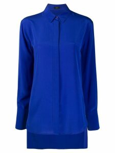 Joseph silk long-sleeve blouse - Blue