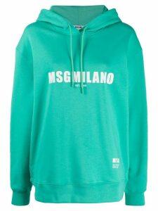 MSGM logo printed hoodie - Green