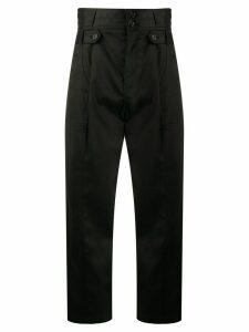 Nili Lotan high-rise cropped trousers - Black