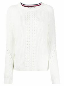 Tommy Hilfiger organic cotton long-sleeve jumper - White