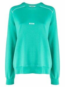 MSGM logo printed sweatshirt - Green