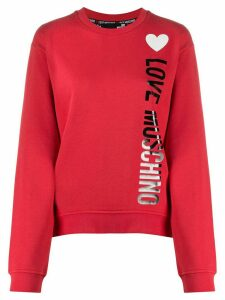 Love Moschino logo heart print sweatshirt - White