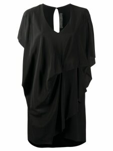 Federica Tosi draped sleeveless dress - Black