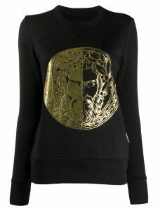 Versace Jeans Couture foil embossed logo sweatshirt - Black