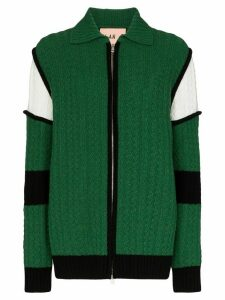 Plan C cable knit cardigan - Green