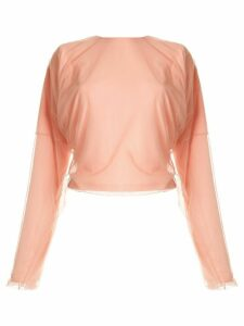 Y/Project mesh overlay dolman top - PINK
