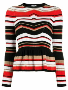 LIU JO striped knit jumper - Black
