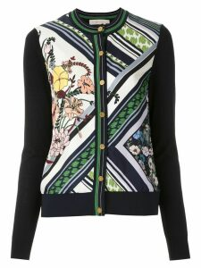 Tory Burch Silk-Front Cardigan - Black