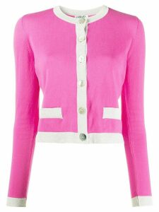LIU JO colour-block cardigan - PINK