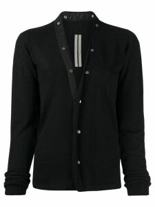 Rick Owens buttoned cashmere knitted top - Black