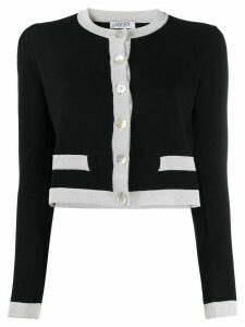LIU JO colour-block cardigan - Black