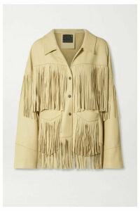 R13 - Fringed Textured-leather Jacket - Cream