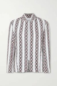 Rue Mariscal - Embroidered Cotton-voile Jacket - White