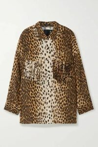 R13 - Fringed Animal-print Woven Shirt - Leopard print