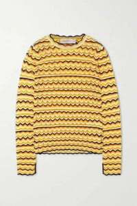 Victoria, Victoria Beckham - Open-knit Sweater - Yellow