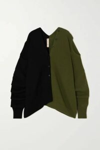 Marni - Convertible Two-tone Wool Cardigan - Black