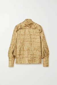 The Row - Lima Printed Silk-faille Blouse - Beige