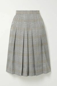Maje - Pleated Checked Woven Culottes - Gray