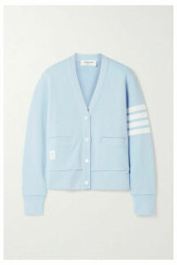 Thom Browne - Striped Cotton-jersey Cardigan - Light blue