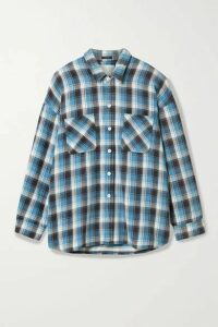 R13 - Oversized Checked Cotton-flannel Shirt - Blue