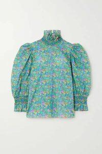 Horror Vacui - Collia Floral-print Cotton-poplin Blouse - Green