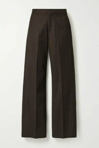 Co - Gabardine Straight-leg Pants - Dark brown