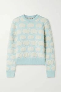 Lanvin - Jacquard-knit Sweater - Sky blue