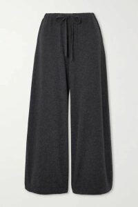 Vince - Cropped Wool And Cashmere-blend Wide-leg Pants - Gray