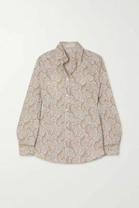 Etro - Paisley-print Cotton-blend Oxford Shirt - Ivory