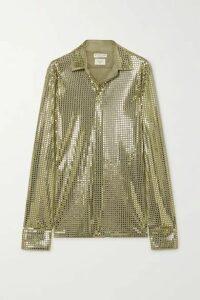Bottega Veneta - Sequin-embellished Satin-jersey Shirt - Green