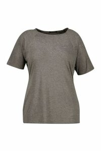 Womens Plus Jersey Gym T-Shirt - Grey - 20, Grey