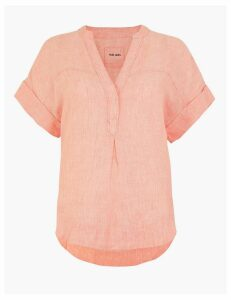 M&S Collection Pure Linen Popover Blouse