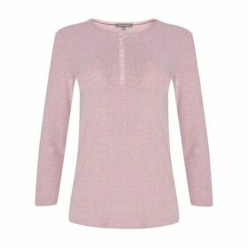 Heather Pink Henley Top