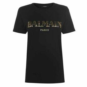 Balmain Vintage Logo T Shirt