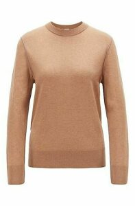 Regular-fit sweater in cotton blend with contrast linking
