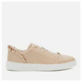 Ted Baker Women's Astrina Ruffle Detail Tennis Trainers - Pink - UK 8