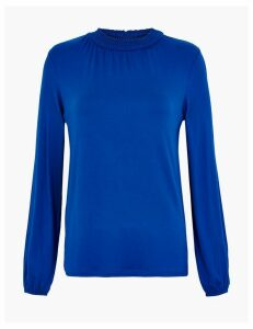 M&S Collection High Neck Straight Fit Blouse
