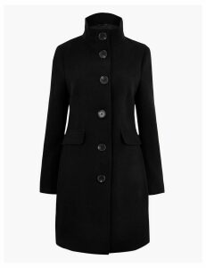 M&S Collection Button Detailed Coat