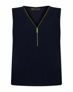 Mela London Curve Zip Detail Blouse