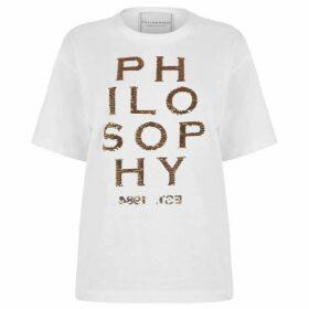 Philosophy di Lorenzo Serafini Sequin Logo T Shirt