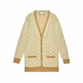 Interlocking G lamé wool cardigan