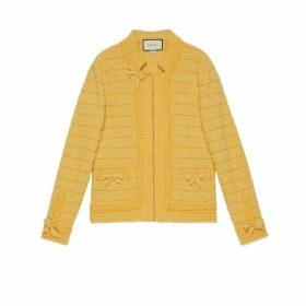 Wool jacket with self-belt