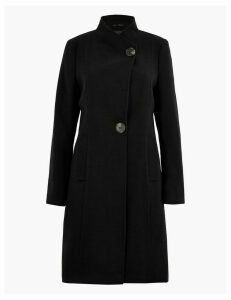 M&S Collection Button Detailed Wrap Coat