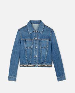 Stella McCartney Blue Logo Denim Jacket, Women's, Size 16