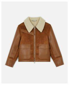 Stella McCartney Brown Skin Free Skin Jacket, Women's, Size 8