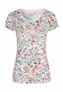 Womens Cream Ditsy Floral T-Shirt